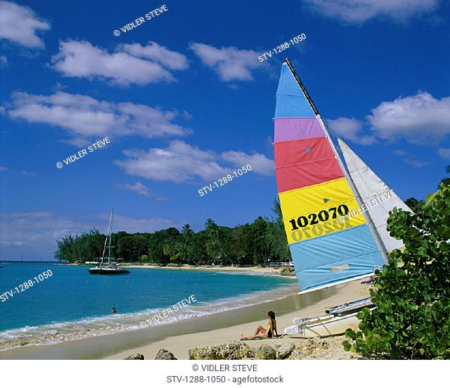 Barbados, Beach, Boat, Boating, Caribbean, Caucasian, Holetown, Holiday, Landmark, Outdoors, People, Relax, Relaxing, Sail, Sail