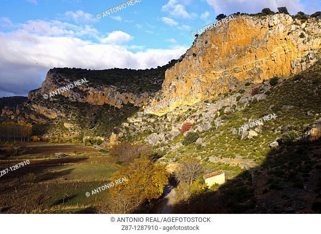 Villel de Mesa, Hoz del Rio Mesa, Guadalajara, Spain