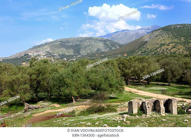 Countriside near Himara, district Vlora Vlore, Albania