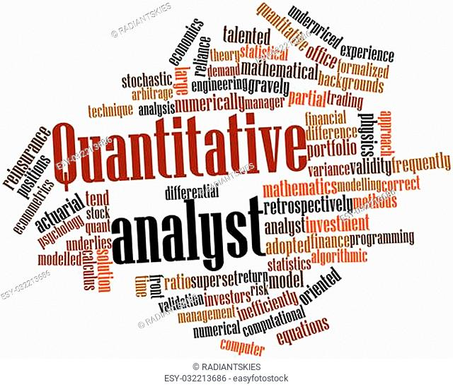 Abstract word cloud for Quantitative analyst with related tags and terms