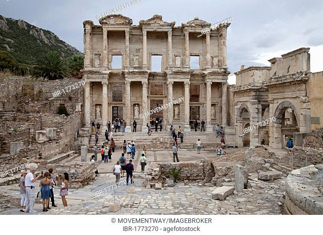 Celsus Library, Ephesus, Selcuk, Lycia, Turkey, Asia