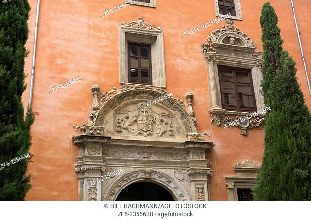 Granada Spain architecture close ups in old city and wonderful arches and windows