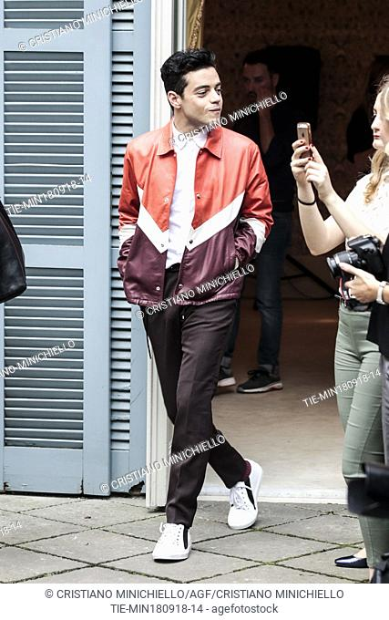 The actor Rami Malek during the photocall of film Bohemian Rhapsody, Rome, ITALY-18-09-2018