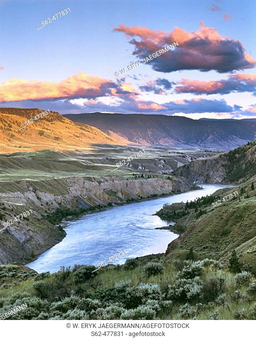 Fraser River Canyon at Last Light, Chilcotin, British Columbia, Canada