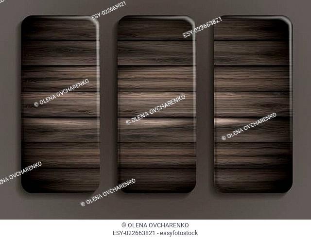 Wooden texture banner