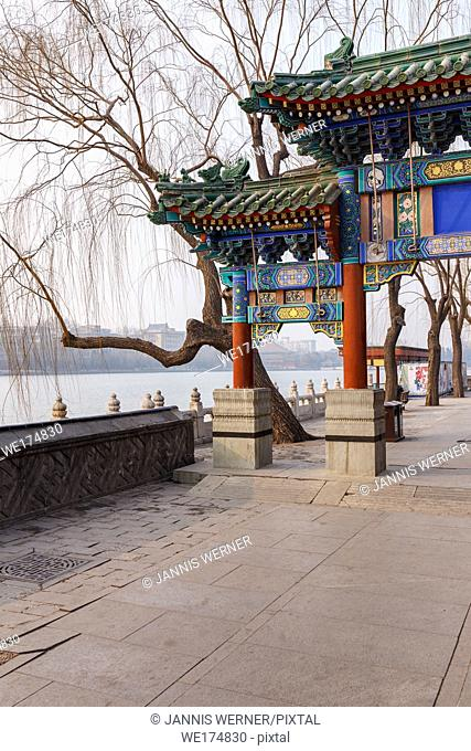 Impressions from imperial Behai Park in Beijing, China in March 2018
