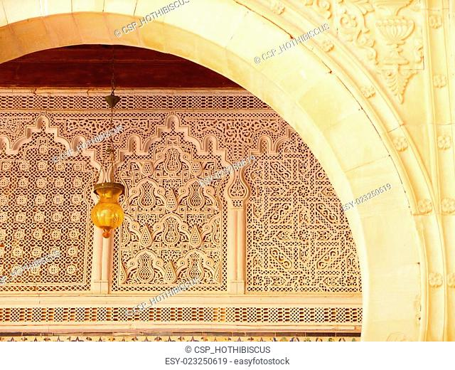 Kairouan Ornate Archway and Carvings Detail