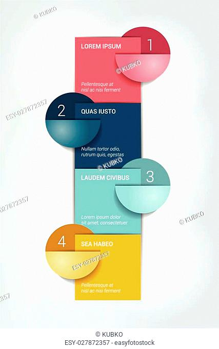 Four steps template. Numbered chart. Infographic element