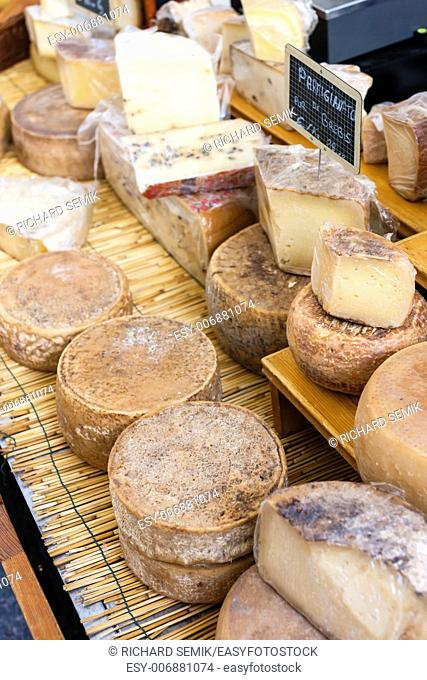 cheese, market in Forcalquier, Provence, France