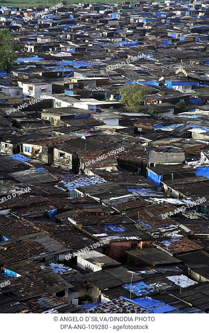 Slum area near Santacruz Airport ; Vakola ; Bombay Mumbai ; Maharashtra ; India No Permission