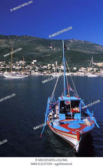 Fishing Boat, Vathy Ithaki, Ionian Islands, Greece