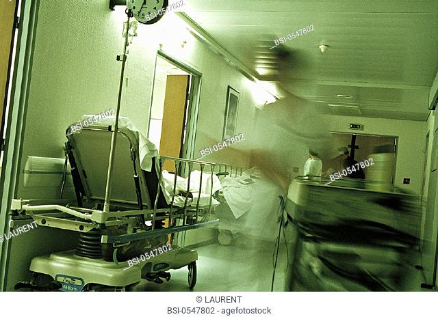 EMERGENCY CASE, HOSPITAL<BR>Chatellerault Hospital (Camille Guérin Hospital) in the French department of Vienne
