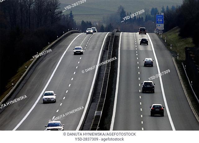 highway in Bavaria, Germany, Europe