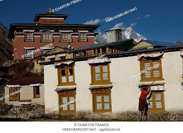 Nepal, Sagarmatha Zone, Khumbu Region, trek of the Everest Base Camp, Tengboche monastery