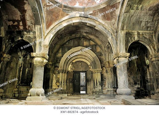interior of a armenian orthodox church at Sanahin monastery, UNESCO World Heritage Site, Armenia, Asia
