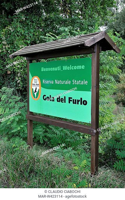 natural reserve gola del furlo, acqualagna, marche, italy