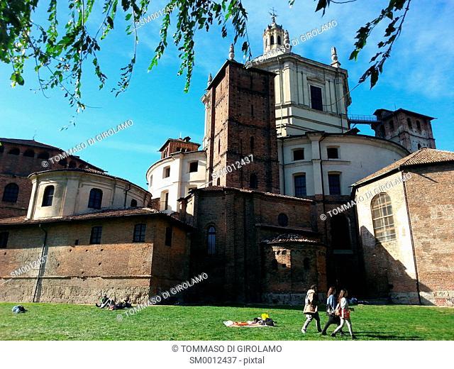Italy, Milan, St. Lorenzo church