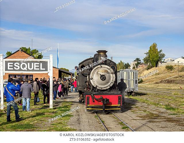 Old Patagonian Express La Trochita, steam train, Esquel Train Station, Chubut Province, Patagonia, Argentina