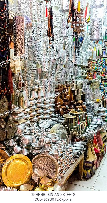 Shop full of traditional and decorative homeware, Marrakech, Morocco