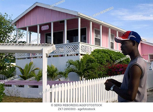 Typical loyalist house, Hope Town, Elbow Cay, Abacos. Bahamas