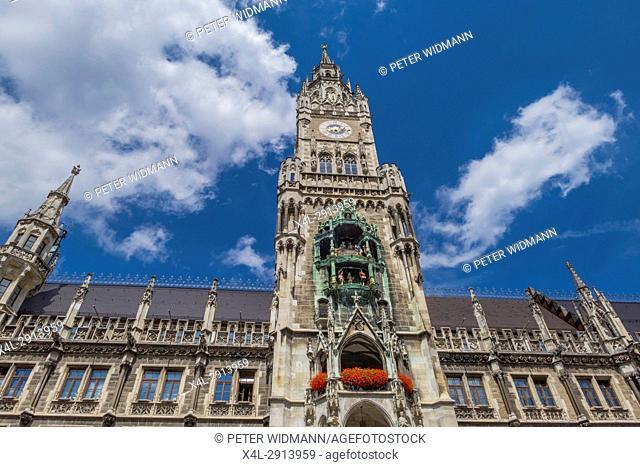 New Town Hall in Munich, Marienplatz, Bavaria, Germany, Europe