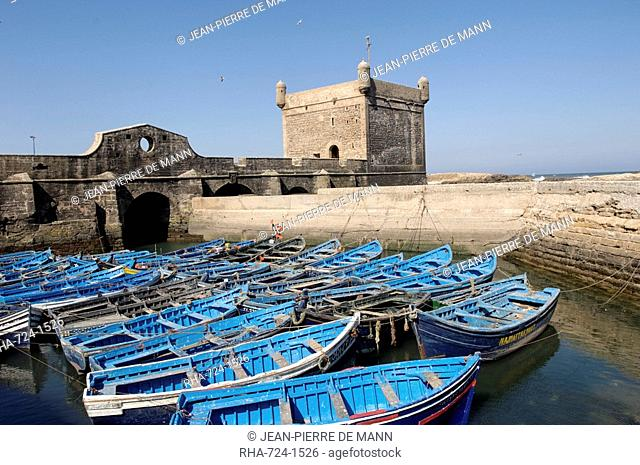 The Skala of the Port, the old fishing port, Essaouira, historic city of Mogador, Morocco, North Africa, Africa