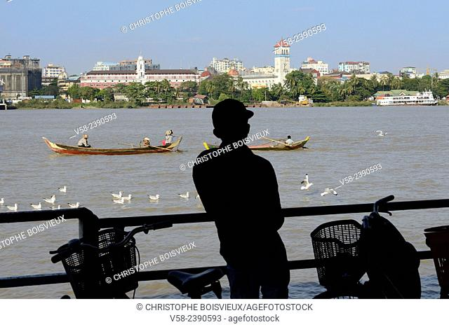 Myanmar, Yangon (Rangoon), Aboard the Dala ferry across Yangon river