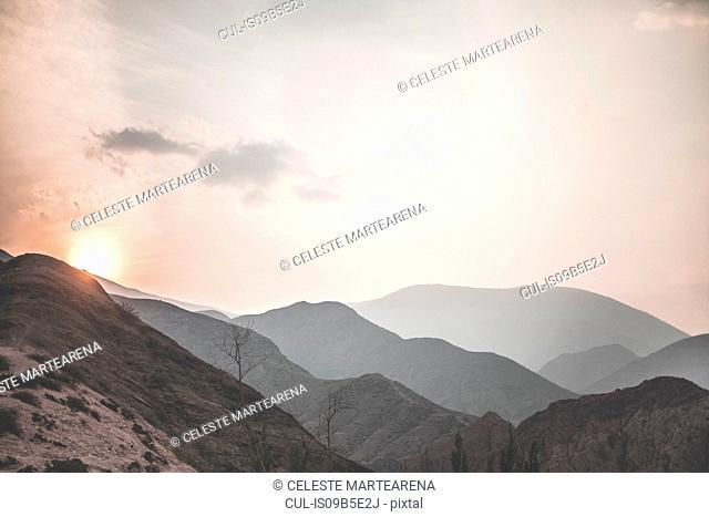 Scenic view, sunset, Iruya, Salta Province, Argentina
