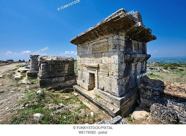 Picture of Tomb 81 of North Necropolis. Hierapolis archaeological site near Pamukkale in Turkey. . . Tomb 81 (2nd - 3rd centuries AD)