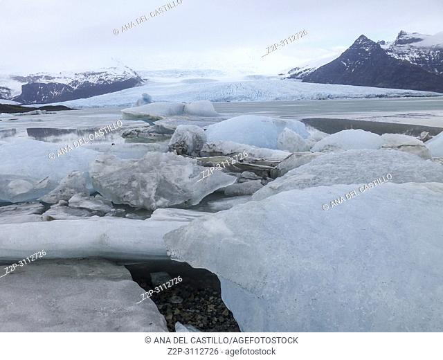 Fjallsarlon glacier in Vatnajokull park Iceland