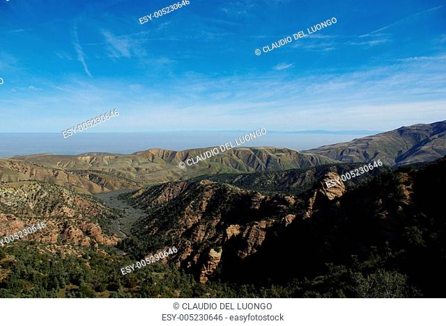 Mountains and wide open plains, Los Padres National Forest,California
