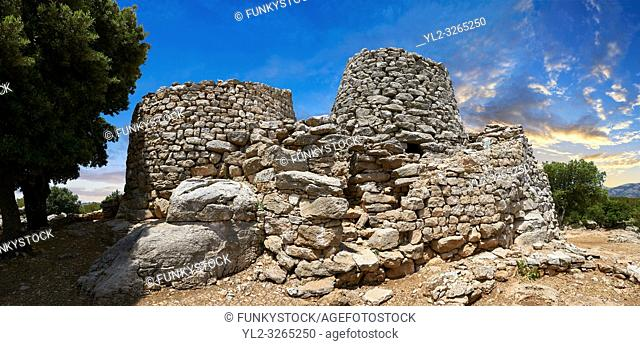 Picture and image of the prehistoric magalith ruins of the multi towered Nuraghe Serbissi, archaeological site, Bronze age (14 - 10 th century BC)