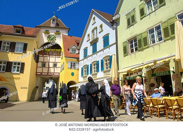 Meersburg, Old town, Castle, Lake Constance, Bodensee, Baden-Wuerttemberg, Germany, Europe