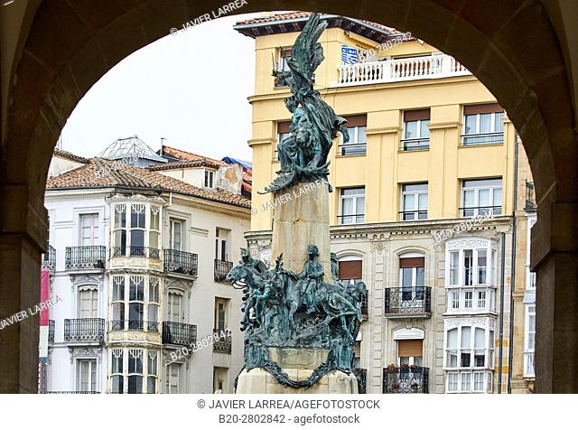 Monument to the Battle of Vitoria, Plaza de la Virgen Blanca, Vitoria-Gasteiz, Araba, Basque Country, Spain