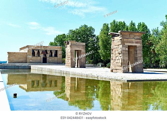 Ancient Egyptian temple of Debod in Madrid. Spain