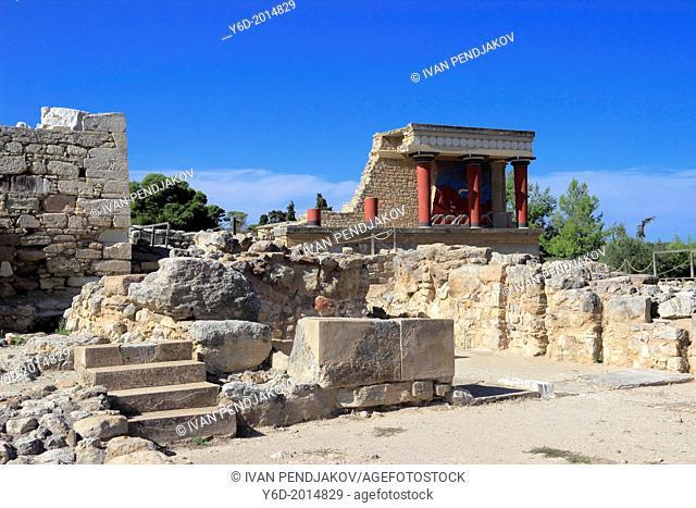 The Palace of Minos at Knossos, Heraklion, Crete, Greece