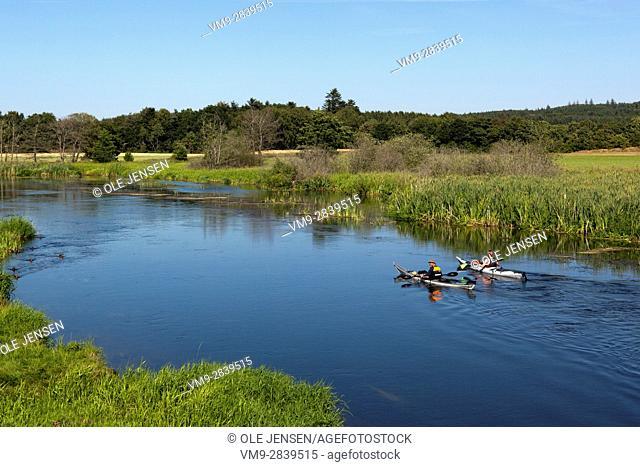 Gudenå - a small Danish river popular for Kayaking. Photo is taken a few miles north of Silkeborg. Svostrup Kro, Svostrupvej,Silkeborg. Denmark