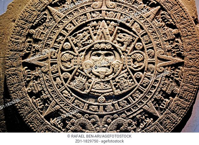 Mexica sun stone or Stone of the Sun Spanish: Piedra del Sol, is a large monolithic sculpture that was excavated in the Zócalo