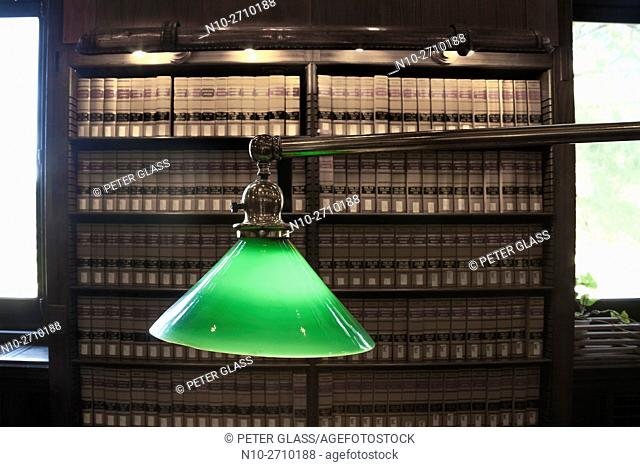 Desk light in a library