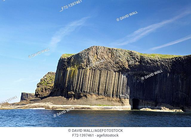 Basalt Columns by Fingal's Cave, Staffa, Scotland, United Kingdom