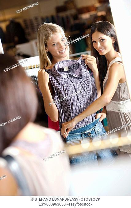 Young women doing shopping