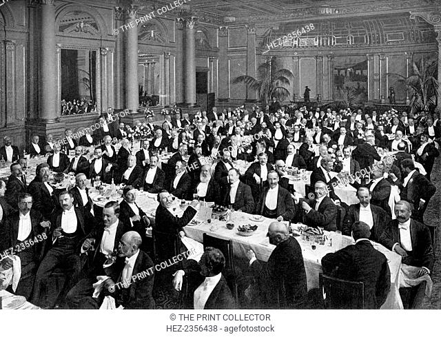 'The Alma Tadema Banquet', 1899 (1900). A photograph from The Magazine of Art, Cassell and Company, Limited, 1900