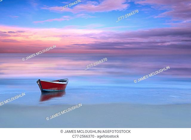 Landscape, ocean, beach, sunrise