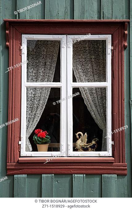 Traditional window, Folk Museum, Oslo, Norway