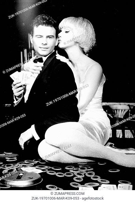Oct. 6, 1970 - Hamburg, Germany - German filmstar HORST BUCHHOLZ (December 4, 1933-March 3, 2003) and actress SYLVA KOSCINA in a scene from the film