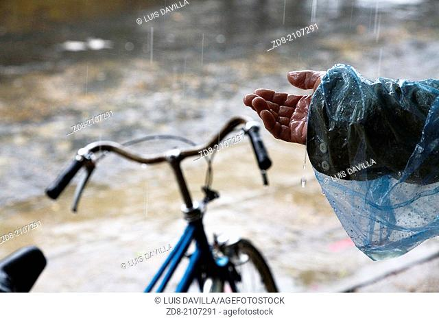 monsoon in hoian. vietnam