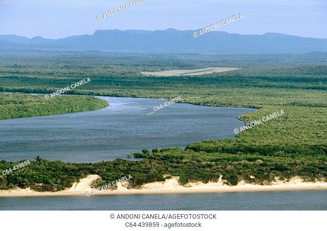 River and mangroves at Cooktown. Queensland. Australia