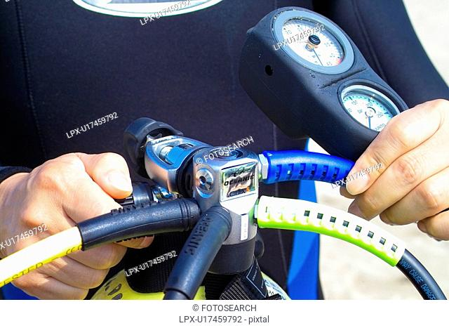 scuba tank, scuba diving, scuba gear, wet suit, scuba, gauge, oxygen