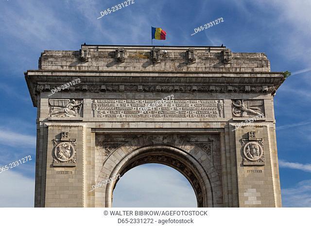 Romania, Bucharest, Piata Arcul de Triumf Square, Arch of Triumph