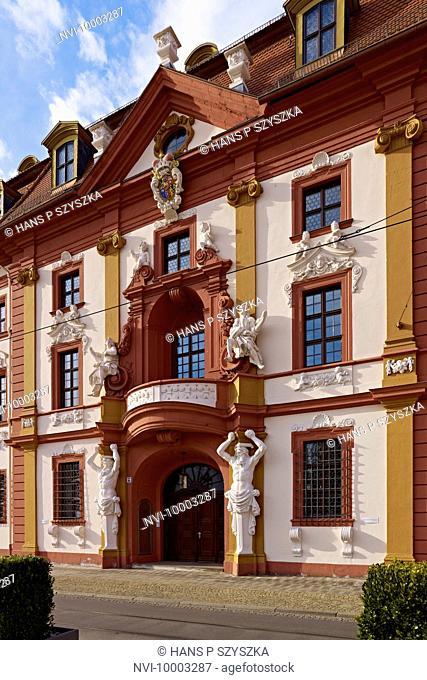 Central risalit, Kurmainzische Lieutenancy, State Chancellery, Erfurt, Thuringia, Germany